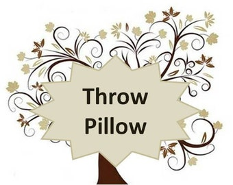 Add Coordinating Throw pillows to any bedding set