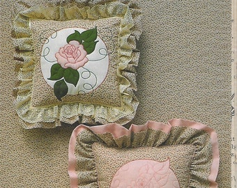 Country Feelings Rose Design Decorator Pillow Sewing Pattern