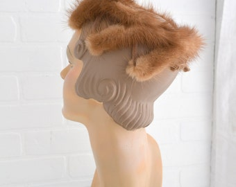 1950s Mink and Netting Hat