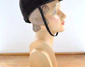 1970s Tress and Company Equestrian Helmet