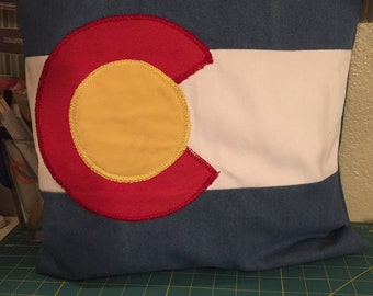 Colorado state flag pillow