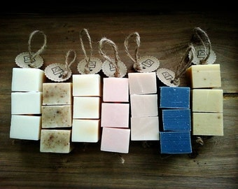 Soap-Cube-on-a-Rope, Natural Handmade Soap, Choose Your Scent