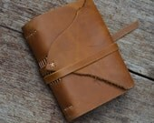 "ROUGH & READY: Leather Journal / Pocketbook / Diary / 6""X4"" / free initials / lined or Plain"