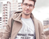 Battlestar Galactica Men's Shirt, FREE SHIPPING, boyfriend gift, What the Frak? Gift for husband, Geeky husband gift, Sci Fi fan gift,