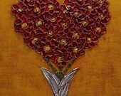 Inspirational Heart Flower Print...8x10 Print