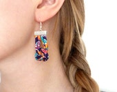 Statement Knot Earrings - Liberty Tana Lawn Jewelry - Floral Wedding Jewelry - Bridesmaid Gift Ideas - Clip On Earrings - Secret Santa Gift