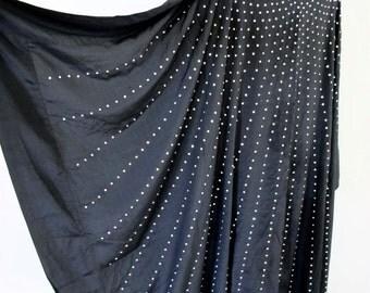 1930s FABRIC Piece Rhinestone Design Silk