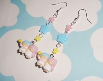 NEW Little Twin Stars Kawaii Stars Dangle Earrings