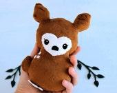 Deer Plushie. Doe Stuffed Animal, Fawn Softie, Soft sculpture, Animal Doll, Little Deer Plush, Minky Softie, Woodland Plush, Stuffed Deer