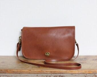 Vintage Coach Bag // Coach Convertible Clutch British Tan Messenger Bag Purse Handbag