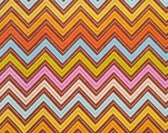 Wrens & Friends Chevron Brown   Moda Fabric   1/4 yard