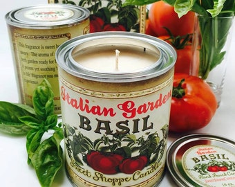 16 oz Garden Fresh Basil Can Candle