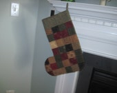 Primitive Christmas stocking