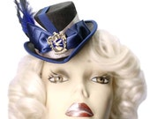 Ravenclaw Mini Top Hat Harry Potter Inspired Victorian Steampunk Fascinator Cocktail