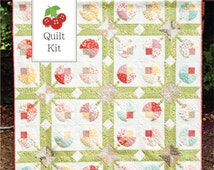 Quilt Kit - Strawberry Fields Revisited and Flower Patch Quilt Kit - Flower Patch Quilt Pattern - Strawberry Fields Revisited Fabric