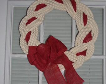 knot wreath | etsy, Hause ideen