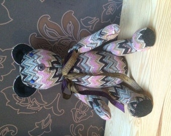 Teddy Bear from Missoni fabric