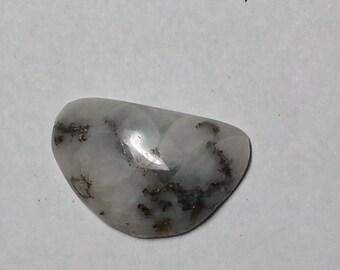 Pyrite and Gold in Quartz Cabochon
