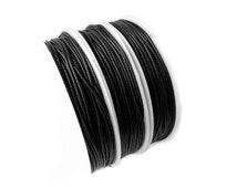 Waxed Cord : 10 feet Black 1mm Waxed Polyester Cord String | Bracelet Cord   85/1.0