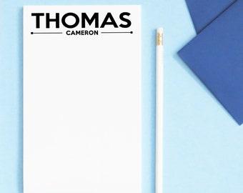 Modern Mens personalized Notepad set, Mens Notepad set, Classic Personalized Notepad, Mens stationary notepad,  - MNP08