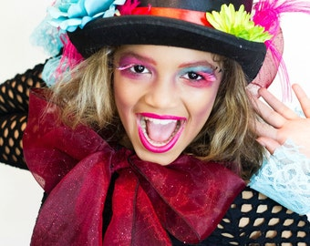 Whimsical Hatter Inspired Tutu and Top Hat for Adults, Teens, Children, Halloween, Pageants, Costume Dress-Up for Women, Teens, Dramatic