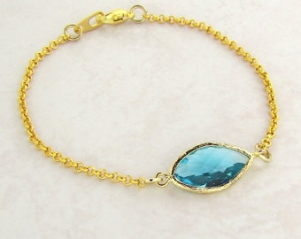 Sea Green Bracelet - Friendship Bracelet, Friendship Jewellery, Stacking Bracelet, Boho Chic, Gold Bracelet, Boho Jewellery, Gifts for her