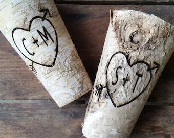 Birch Wood Vase Engraved Birch Wood Vase Wedding Centerpiece Birch Wood Wedding Barn Table Centerpiece Birch Wood Centerpiece