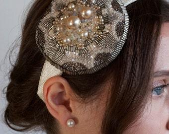 Alice Bridal Hair Band / Vintage Inspired / Bride Fascinator