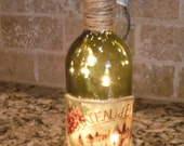 Lighted Cabernet Wine Bottle French Tuscan Home Decor  Hostess Gift