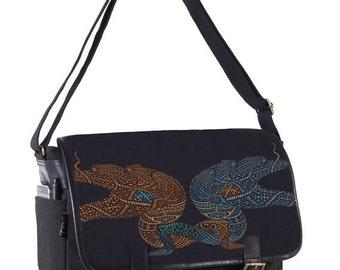 Canvas Messenger Bag, 13 inch Laptop Bag, 15 inch Laptop Bag, Psychedelic, Trippy, Messenger Bag, Mens Gift, Macbook Bag