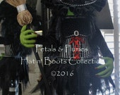 "PRE-ORDER for ""2017""Delivery-Halloween Wicked Witch Stand w/Ruby Red Shoes-Wreath Accent-Petals & Plumes ORIGINAL © (2017 Delivery) 44"" Tall"