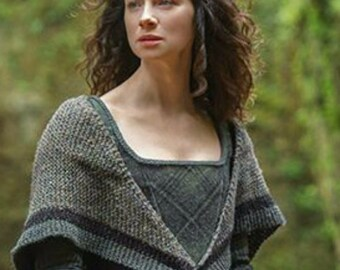Outlander Claire's Rent Shawl PDF Pattern Claire's ** Crochet Pattern**  Inspired Sassenach PDF File Is not a finished product.