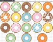 Donut Clip Art, Birthday Clip Art, Party Clip Art, Instant Download, Commercial Use, Digital Images