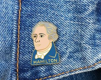 Hamilton Enamel Pin, Alexander Hamilton, Soft Enamel Pin, Jewelry, Art, Gift (PIN53)