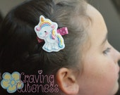 Unicorn Hair Clip, Badge Reel, Planner Accessory, or Book Mark - Meet Miss Ullie
