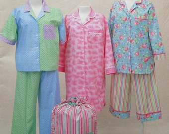 Cindy Taylor Oates PAJAMA PARTY Ladies Pajama Sewing Pattern Booklet By Taylor Made Designs