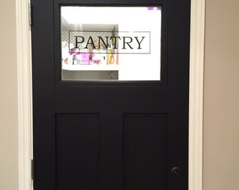 Pantry decal / Utility room / vinyl sign / decal / vinyl decal / laundry decal / closet / kitchen