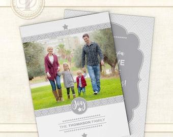 Photo Card, Photo Cards, Christmas Cards, Printable, Christmas Card Template, Christmas Photo Card, Personalized Christmas Card, JOY 2016