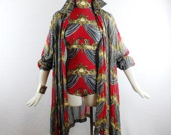 Vintage Rare CHLOE By LAGERFELD TRAPEZE Tunic Regal Mogul Design Silk Volumonous Fashion