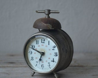 Tiny Antique Alarm Clock