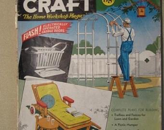 Vintage May-June 1939 Popular Home Craft The Home Workshop Magazine