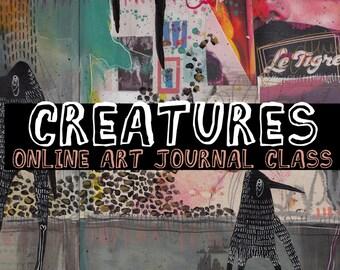 CREATURES - online art journal class