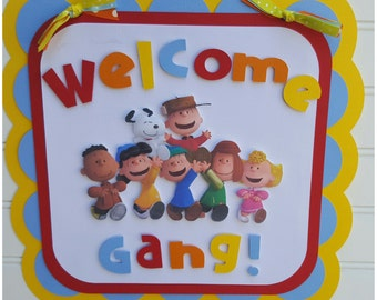 Peanuts, Charlie Brown  Door sign, Welcome Sign