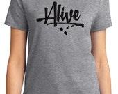 Alive Valentine Women's T-shirt Short Sleeve 100% Cotton S-2XL Great Gift (TF-VA-020)