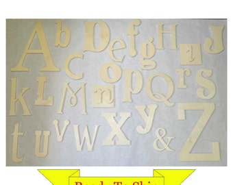Random Wooden Alphabet Set - In Stock and Ready to Ship - #1