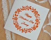 Mother's Day Card Personalised Laser Cut