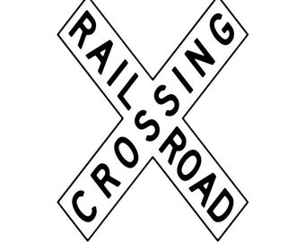 RailRoad Train Sign Image, RailRoad Crossing Poster, Train Wall Art, RailRoad Print, Kids Room Wall Decor, Kids Room Poster, Wall Decor Art