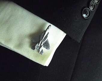 Silver Cuff Links,  F15 Eagle Fighter Jet  Mens Accessories  Handmade