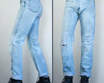 thrashed Wrangler jeans - 32 x 35