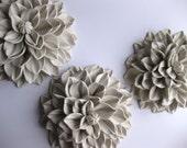 Set of Three Medium Wall Flower Sculptures
